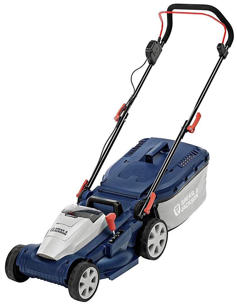 Image of 34cm Cordless Rotary Lawnmower - 24V