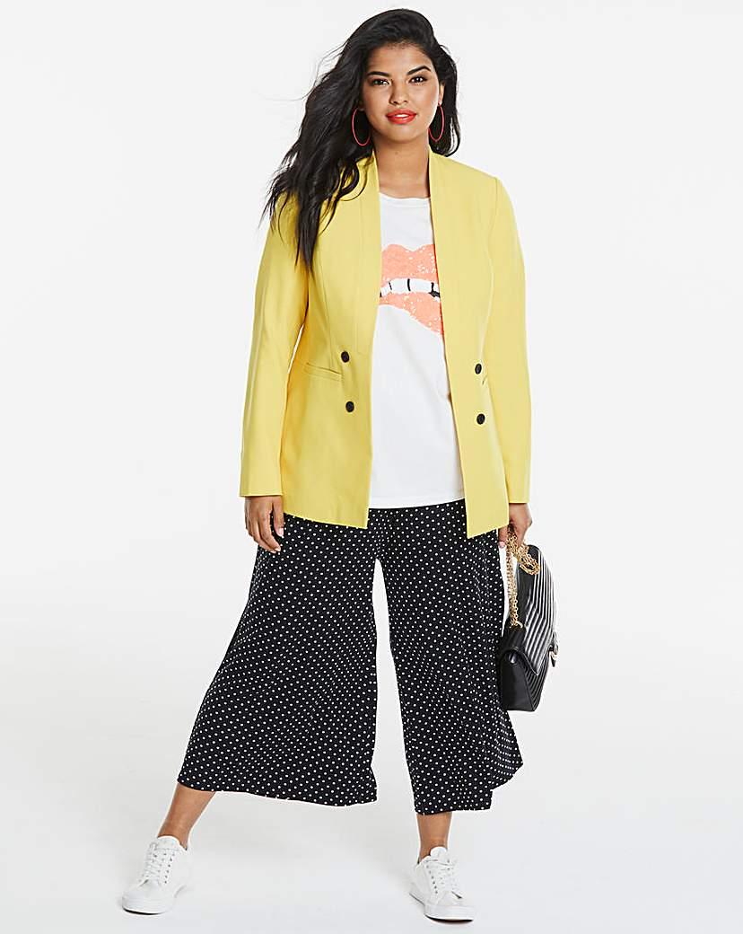 JD Williams Edge To Edge Mustard Fashion Blazer