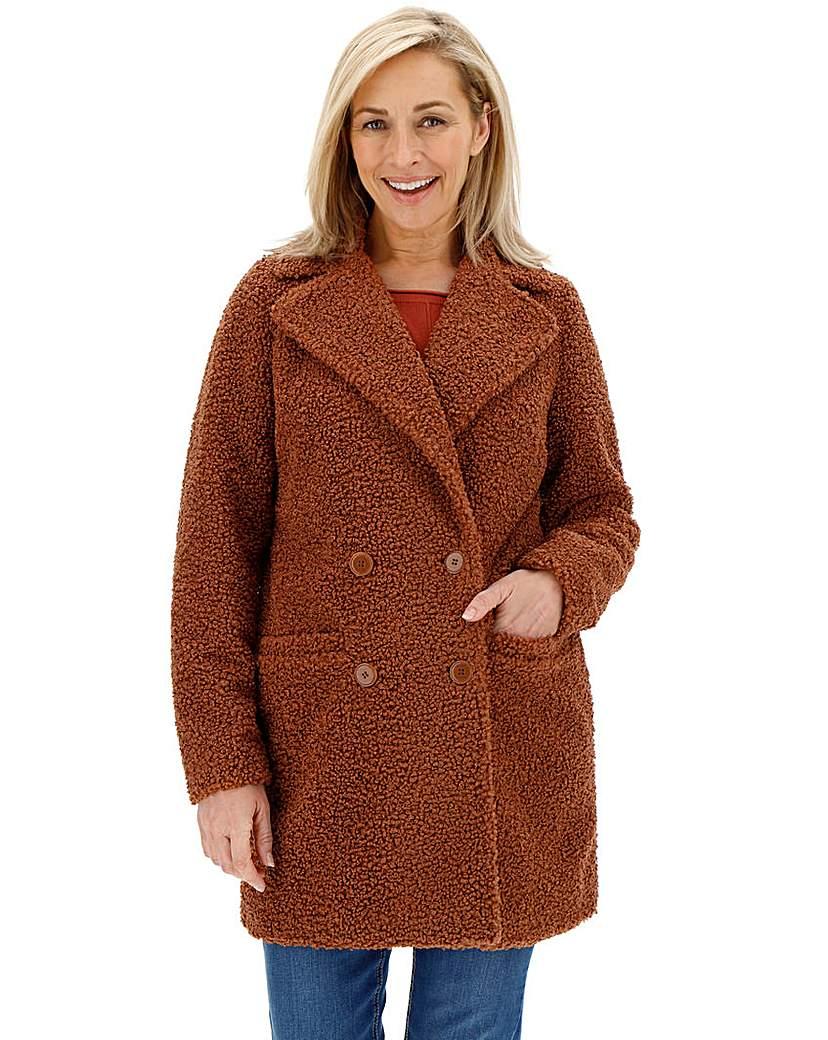 70s Jackets & Hippie Vests, Ponchos Rust Teddy Faux Fur Coat £58.00 AT vintagedancer.com