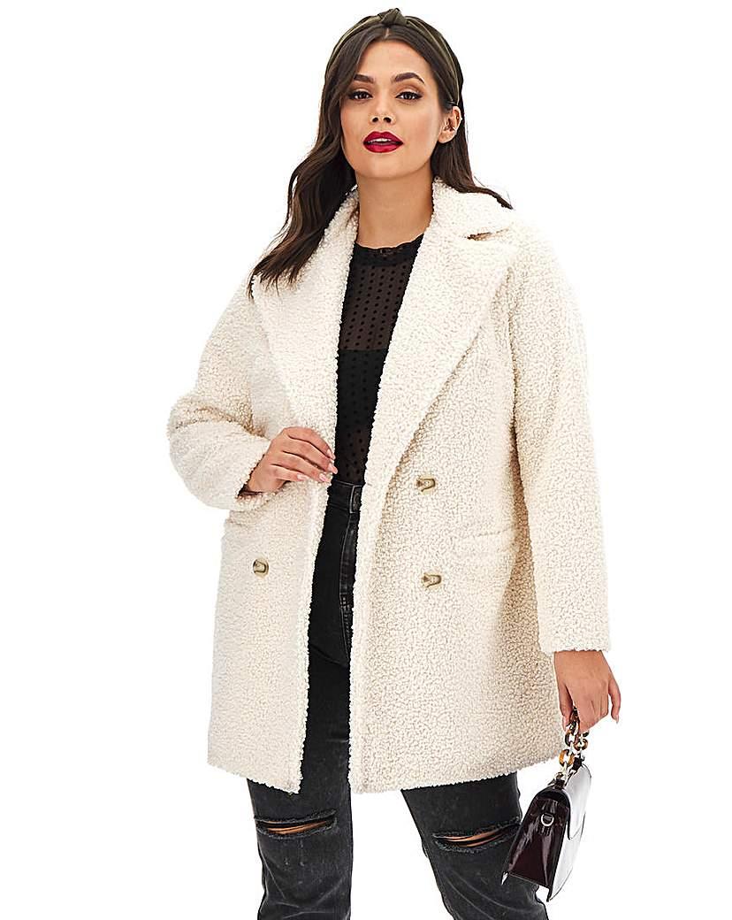 Capsule Cream Teddy Faux Fur Coat