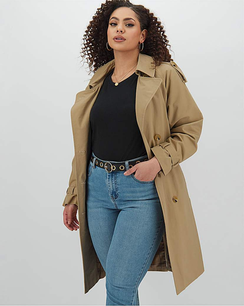 Capsule Cotton Rich Double Breasted Trench Coat