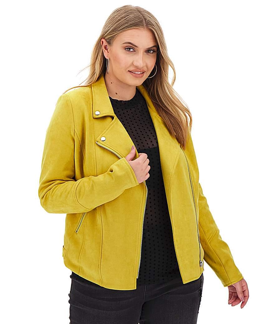 Capsule Yellow Suedette Biker Jacket