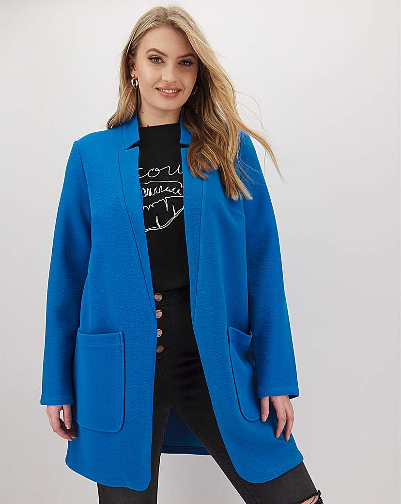 JD Williams Azure Blue Chuck On Crepe Jacket