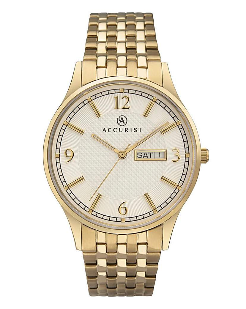 Accurist Gold Tone Bracelet Watch