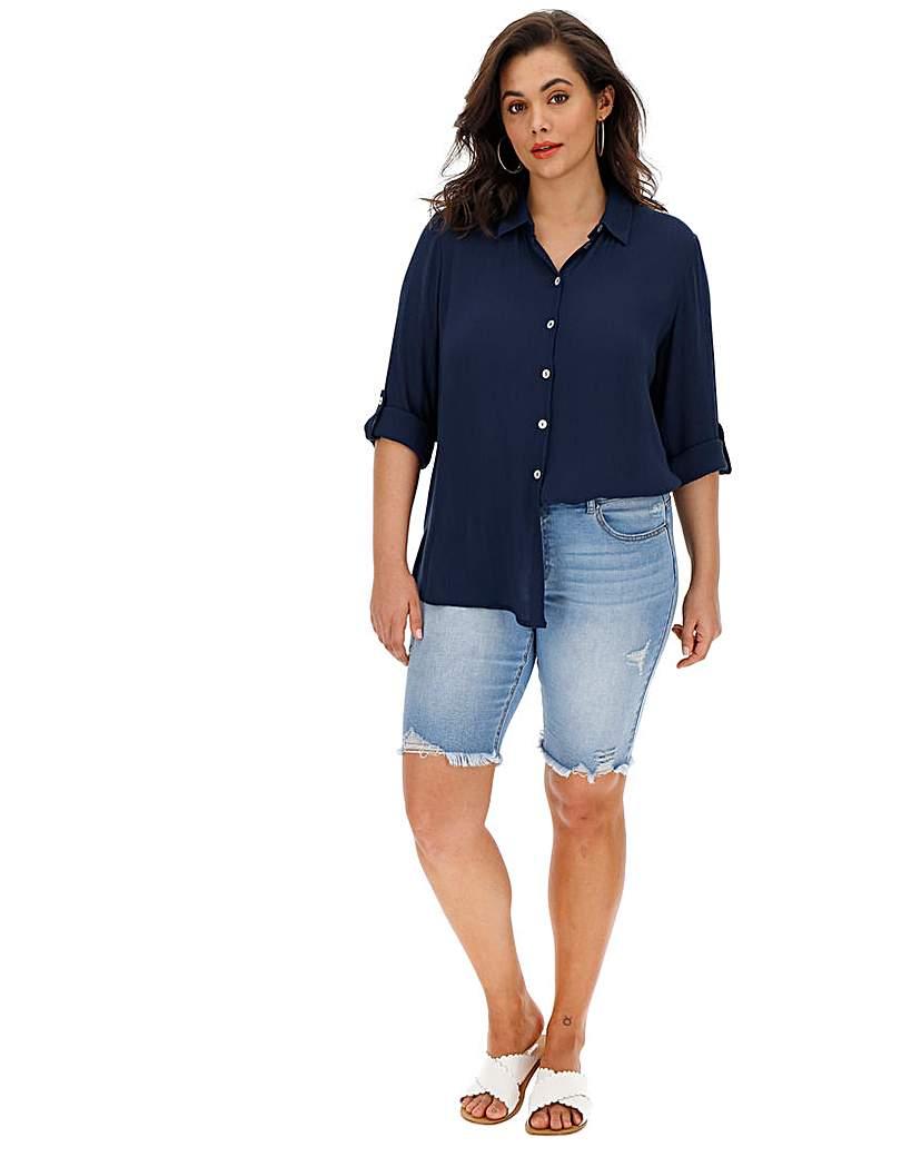 Capsule Navy Crinkle Shirt