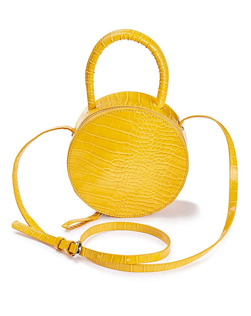 25313963347 Yellow Croc Vanity Bag