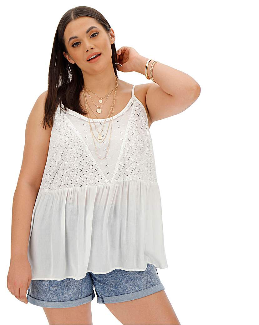 Capsule Ivory Broderie Cami