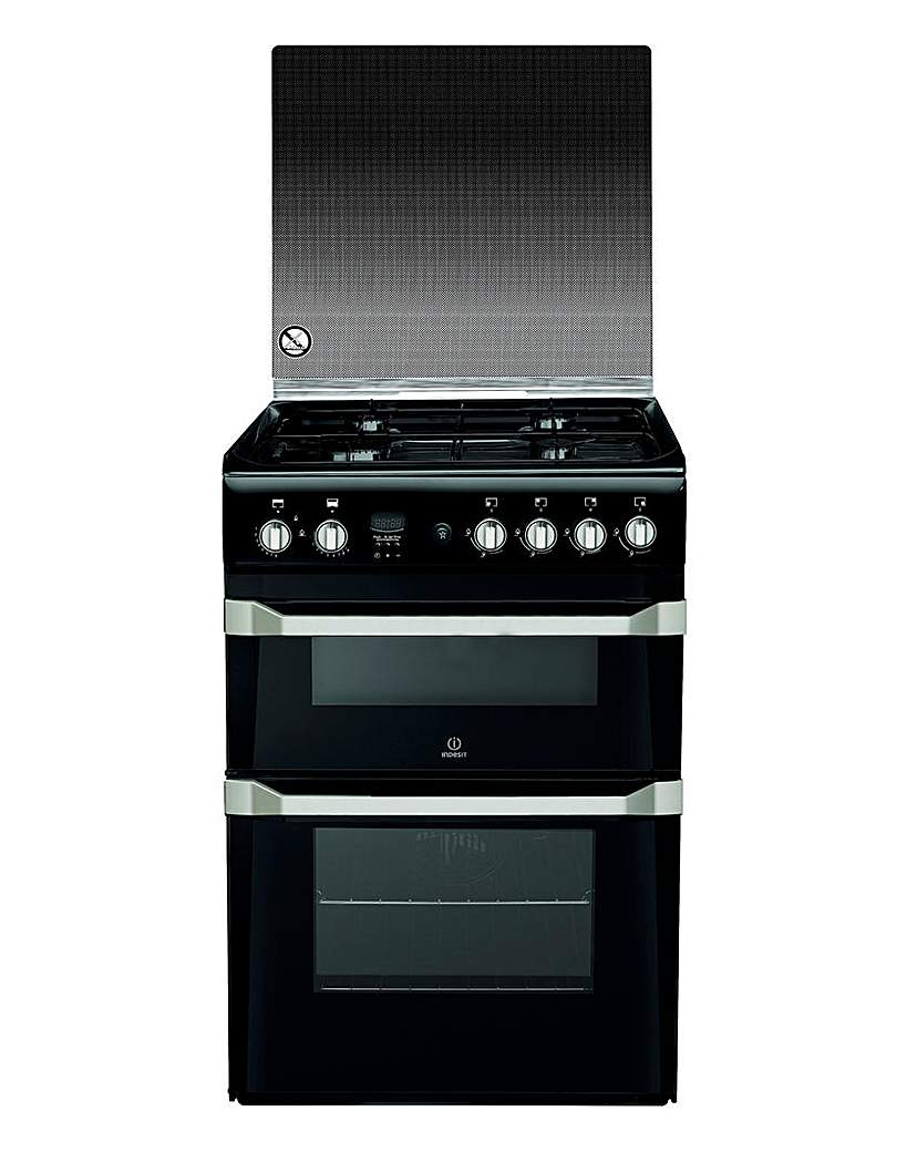 Indesit ID60G2K Gas Double Cooker