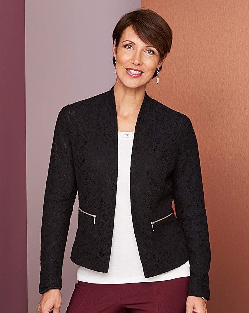 Lace Jacket with Zips