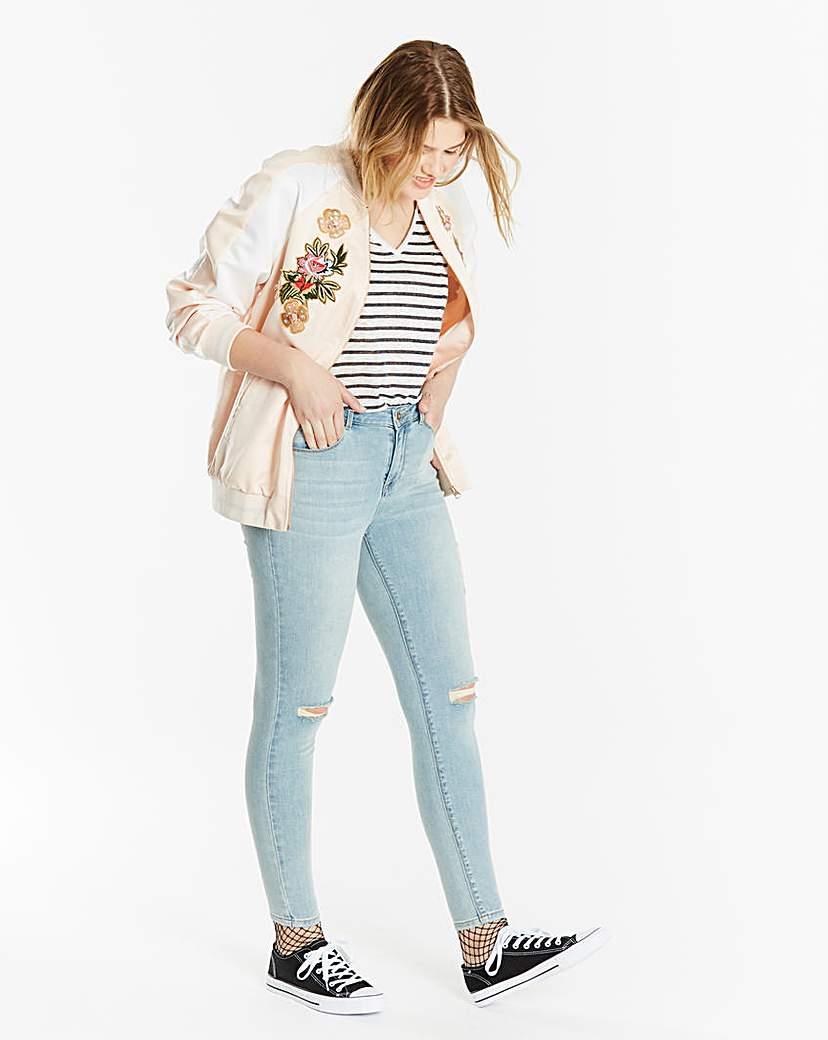 Simply Be Chloe Ripped Knee Skinny Jeans Reg