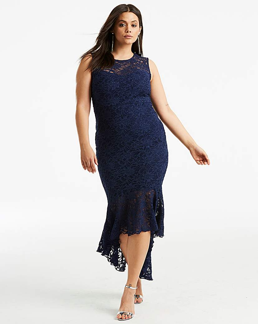 Quiz Lace Fishtail Dress