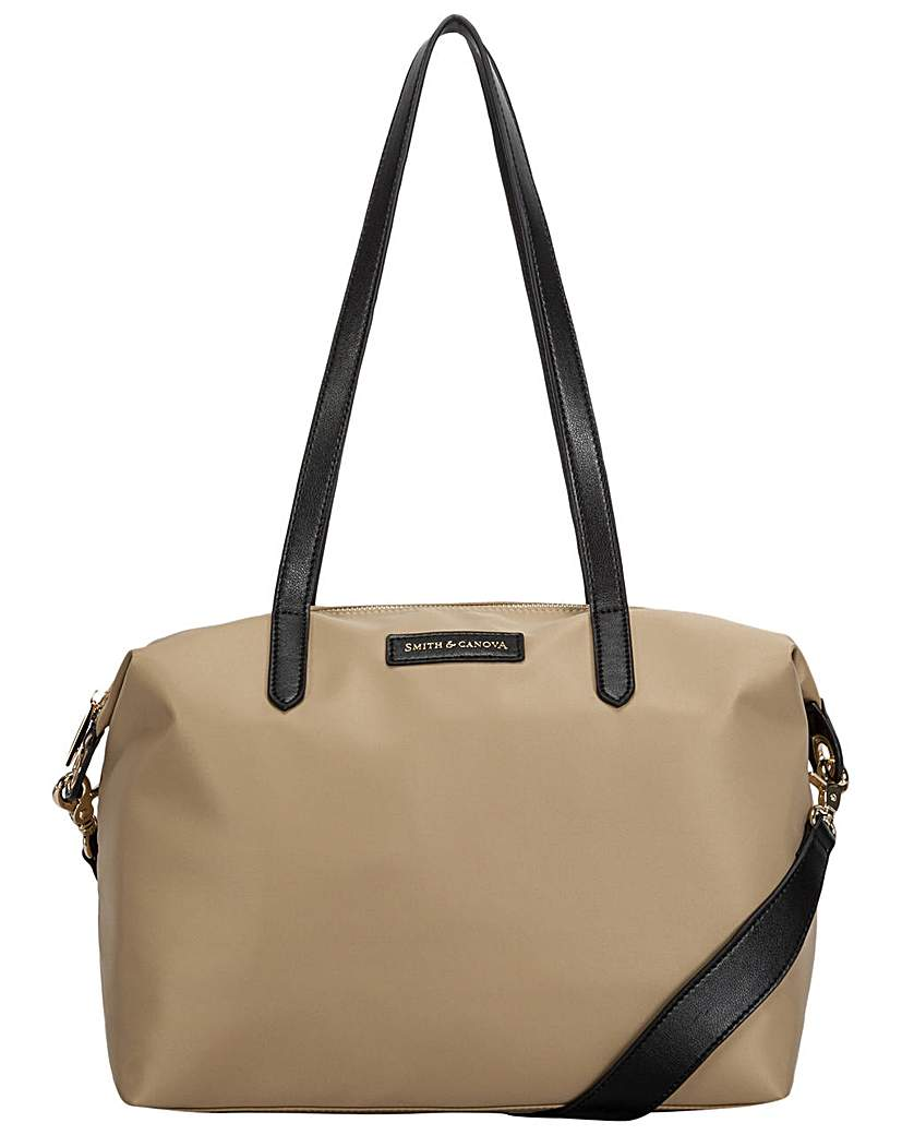 24341388401 Smith & Canova Nylon Zip Top Tote Bag