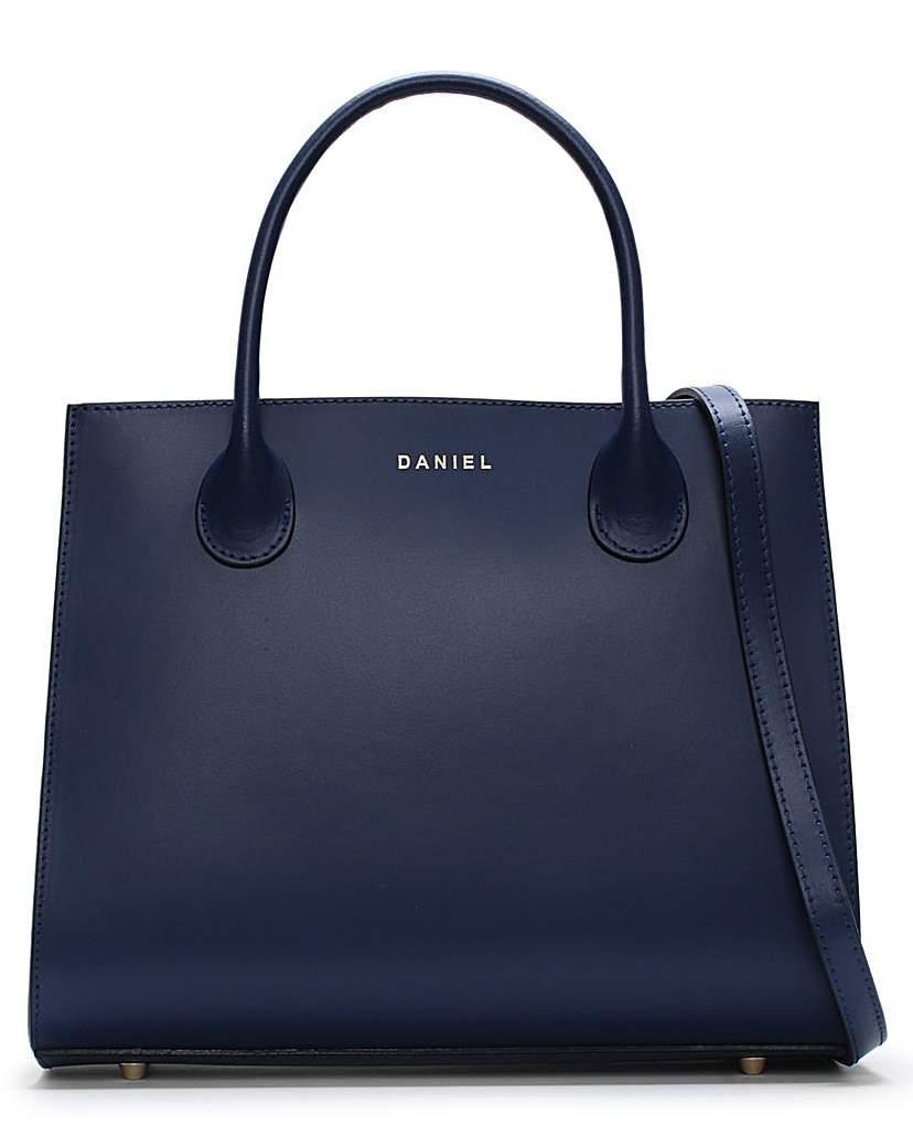 Daniel Motow Leather Structured Tote Bag