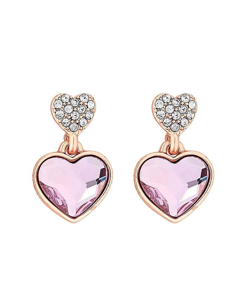 Jon Richard Swarovski Heart Earrings