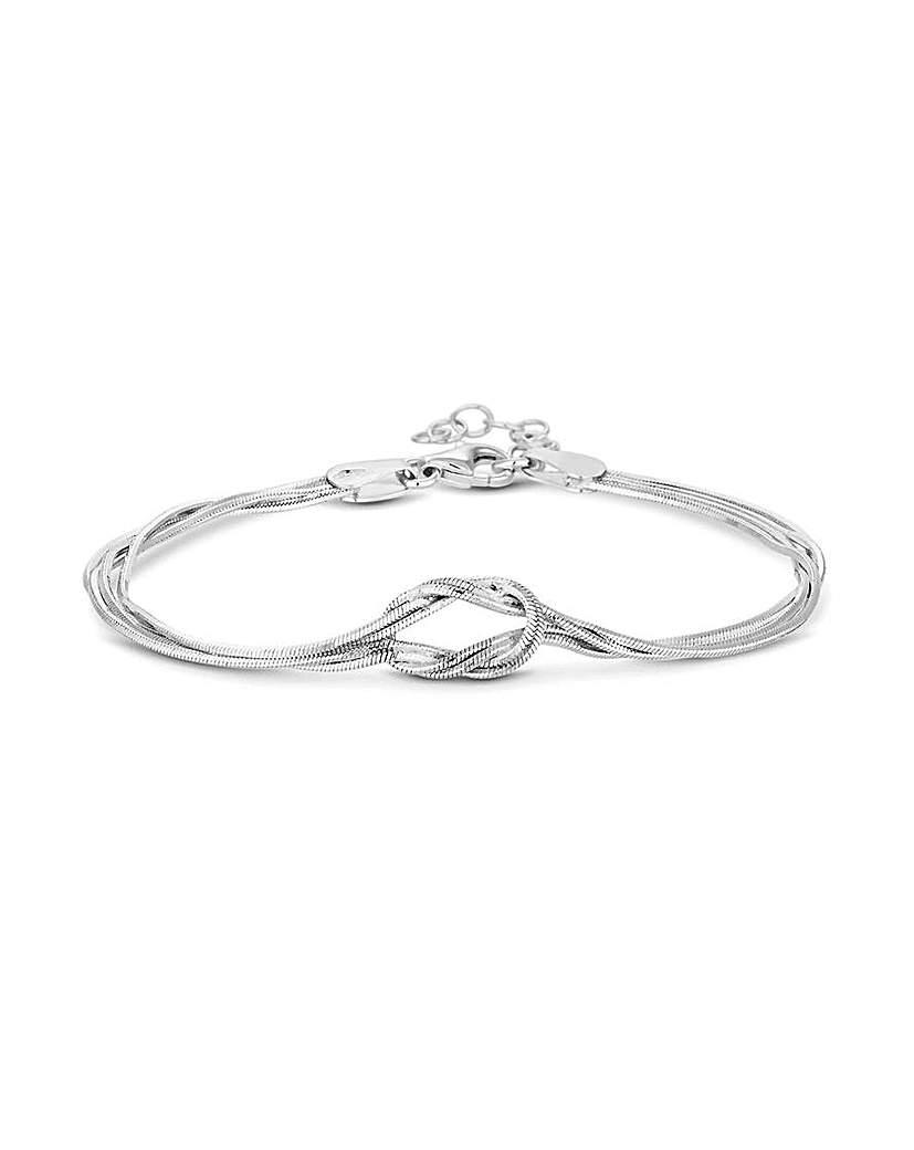 Simply Silver by Jon Richard Simply Silver Slinky Knot Bracelet