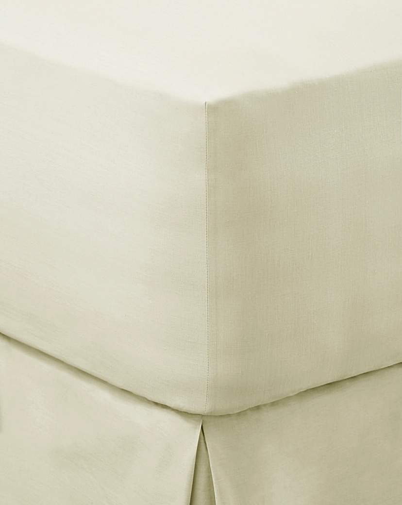 Image of 100% Cotton Percale 200 TC Fitted Sheet