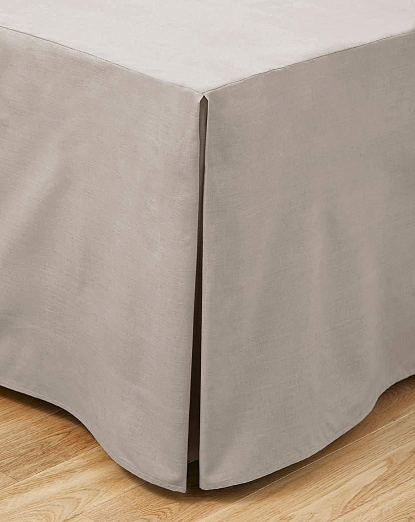 Image of 100% Cotton Percale Base Valance Sheet