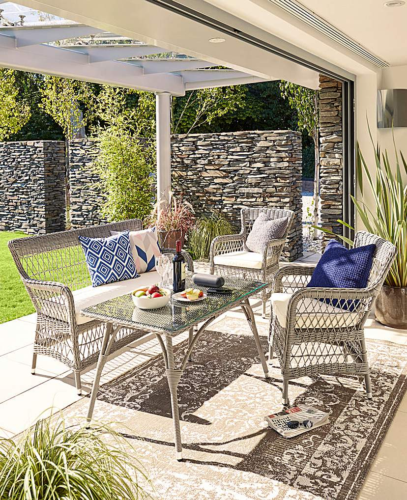 Image of Stratford 4 Piece Rattan Lounge Set