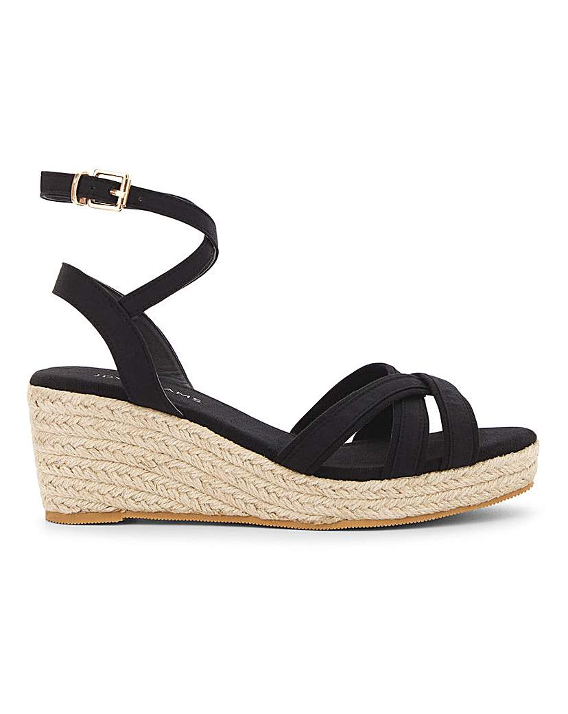 JD Williams Crossover Wedge Sandals EEE Fit