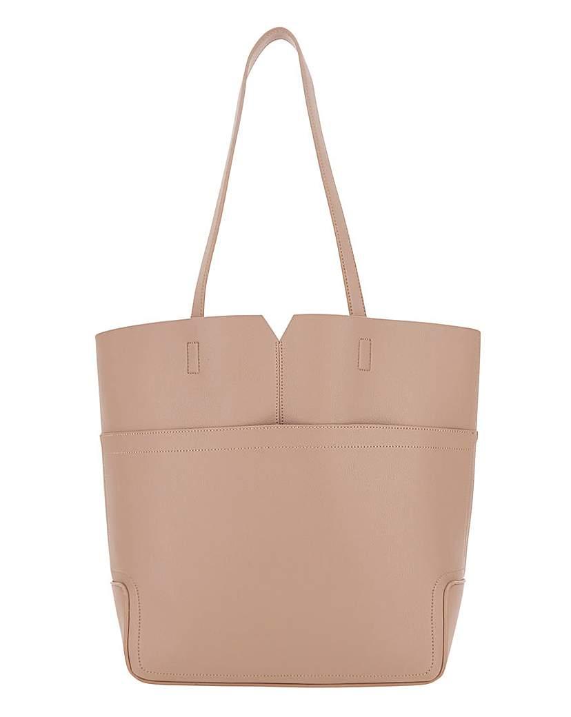 JD Williams Large Pocket Tan Shopper Bag