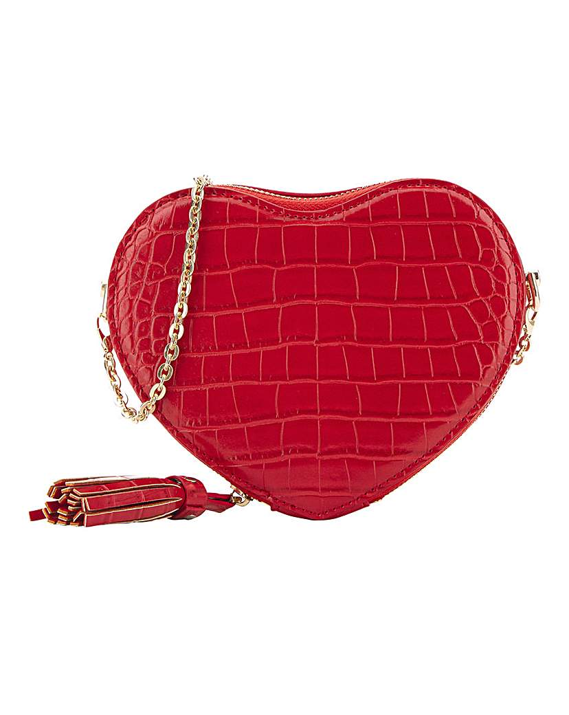 25593875143 Red Heart Shape Crossbody Bag