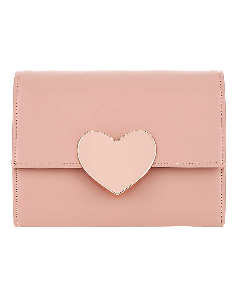 25609638545 Valentines Solid Heart Clutch