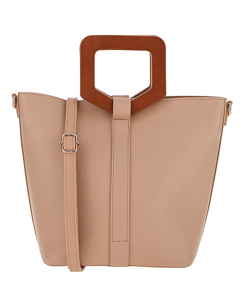 25732281089 Wooden Handle Bucket Bag
