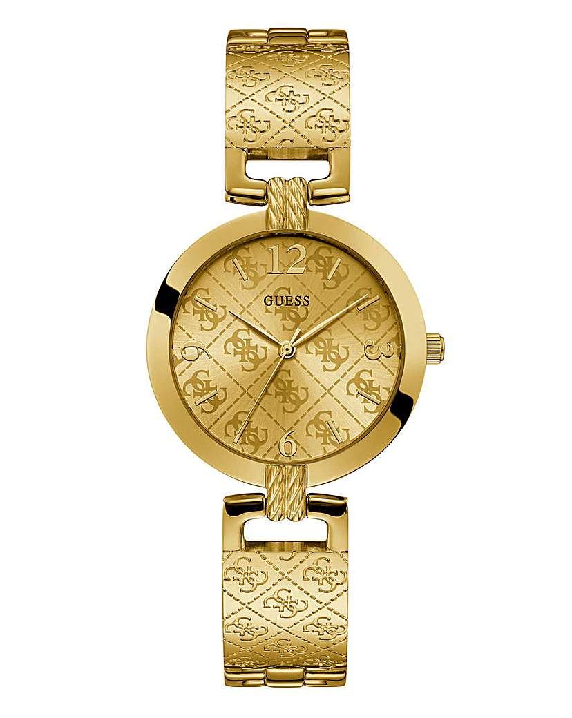 Guess Guess Ladies Gold Logo Bracelet Watch