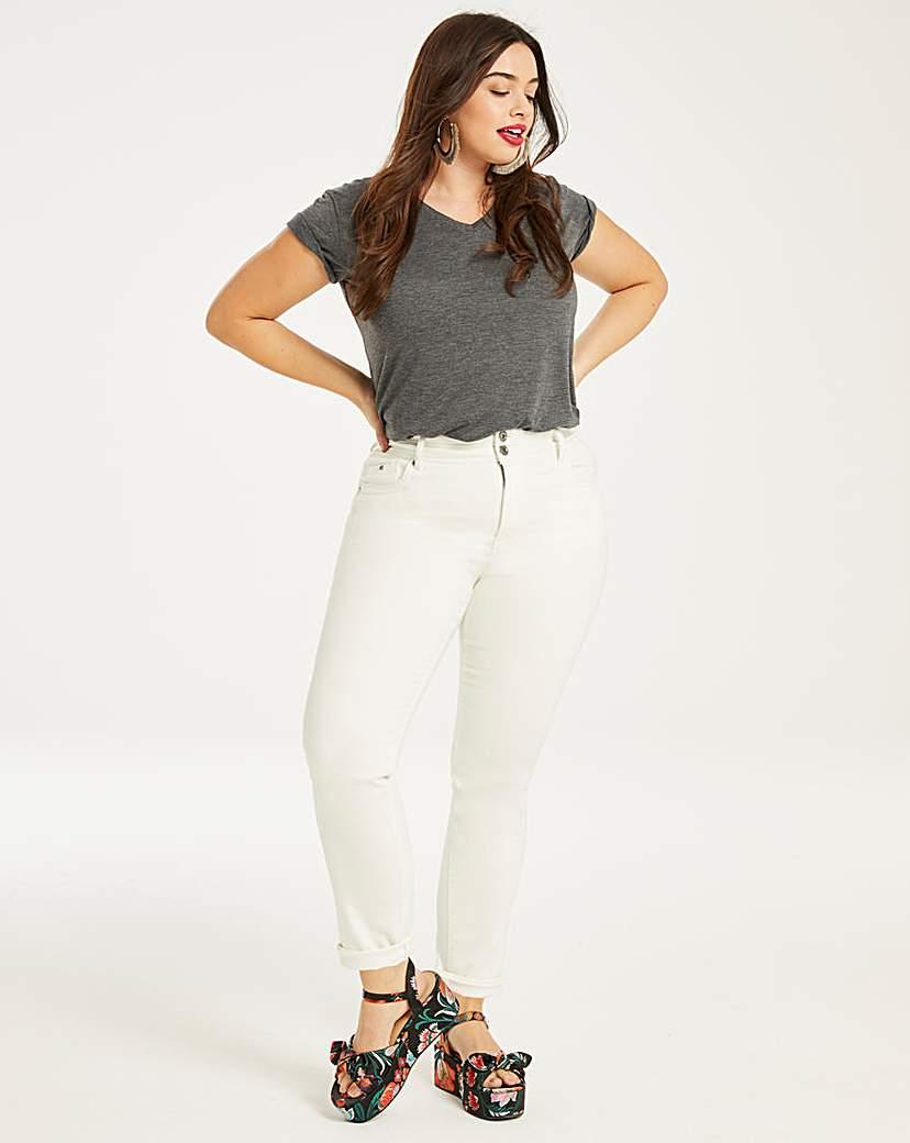Capsule White Shape & Sculpt Straight Leg Jeans