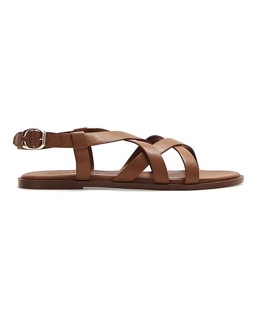 JD Williams Leather Crossover Sandals EEE Fit