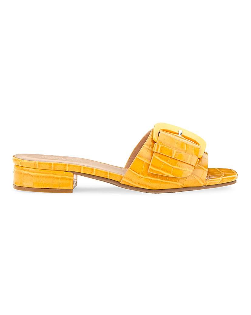 JD Williams Flexi Sole Buckle Mule Sandals E Fit