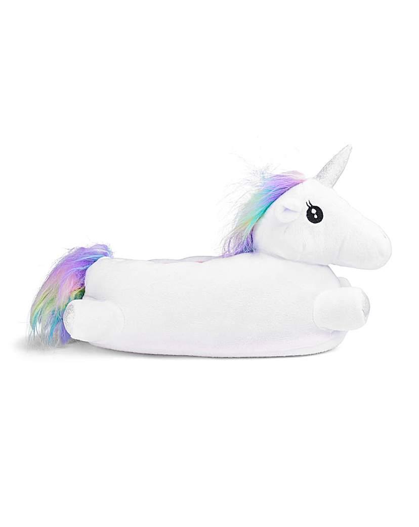 3D Novelty Unicorn Slipper Wide Fit