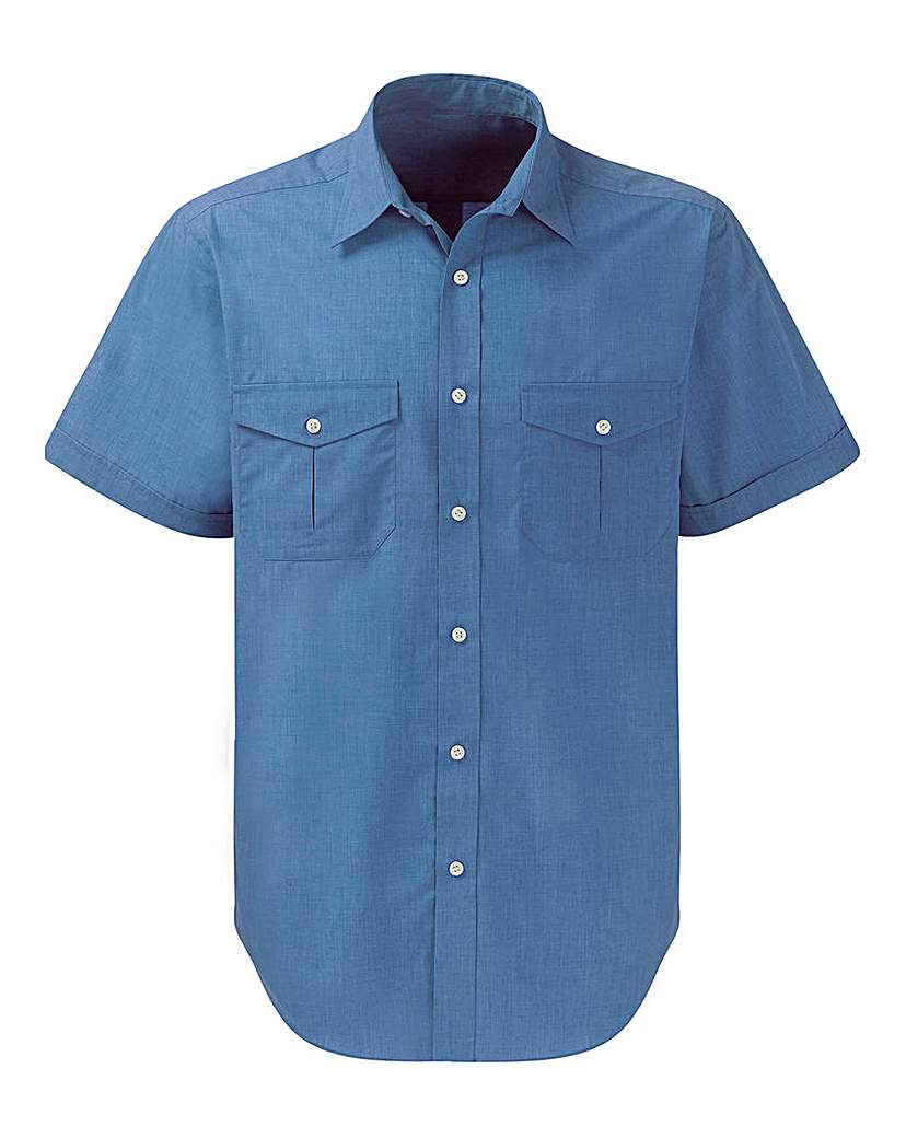 1950s Mens Shirts | Retro Bowling Shirts, Vintage Hawaiian Shirts Premier Man Blue Pilot Shirt R £12.50 AT vintagedancer.com