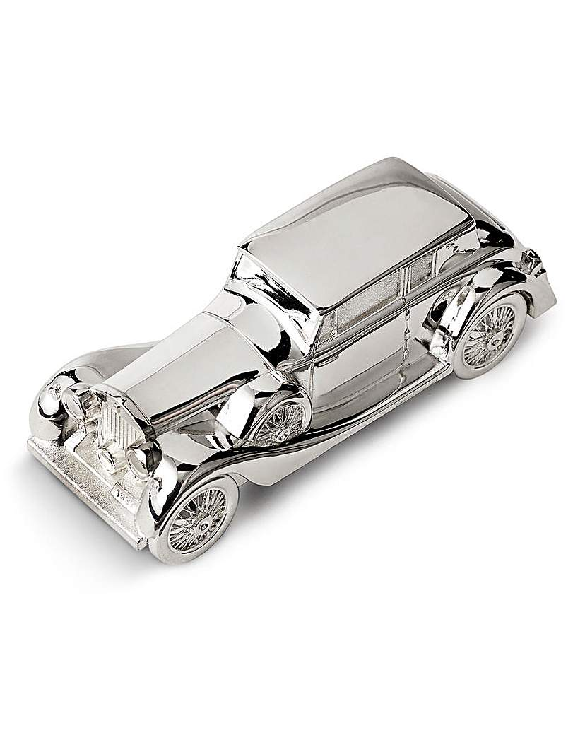 Image of Silver Plated Car Scale Model