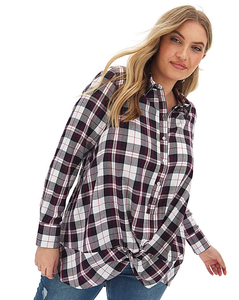 Capsule Twist Front Check Shirt