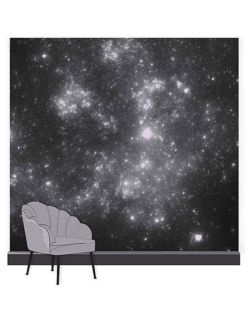 Constellation Celestial Black Mural