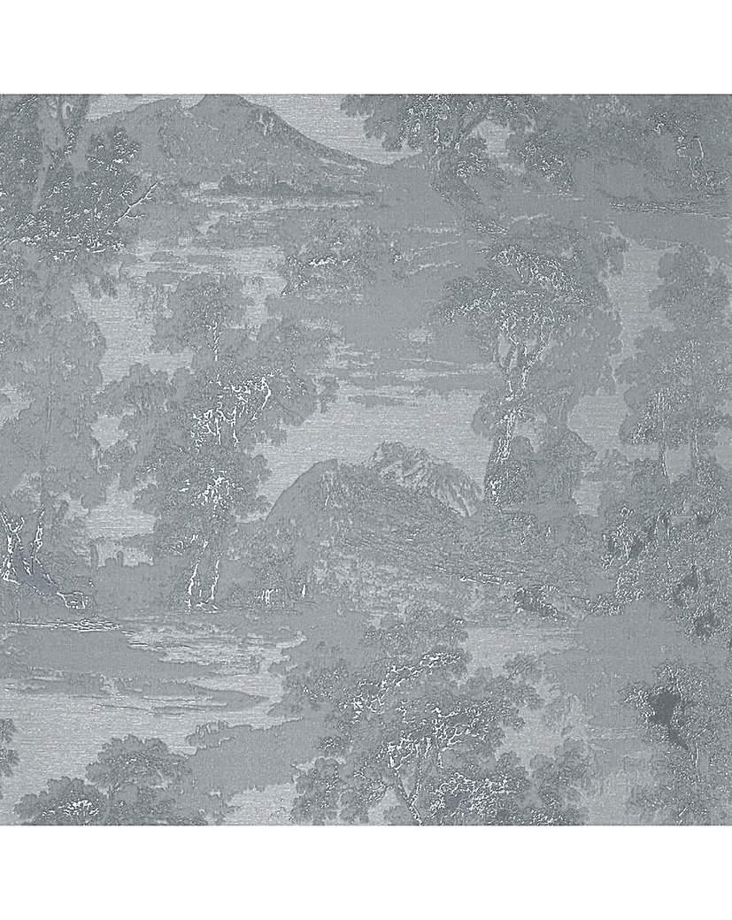 Bosco Tree Silver Wallpaper
