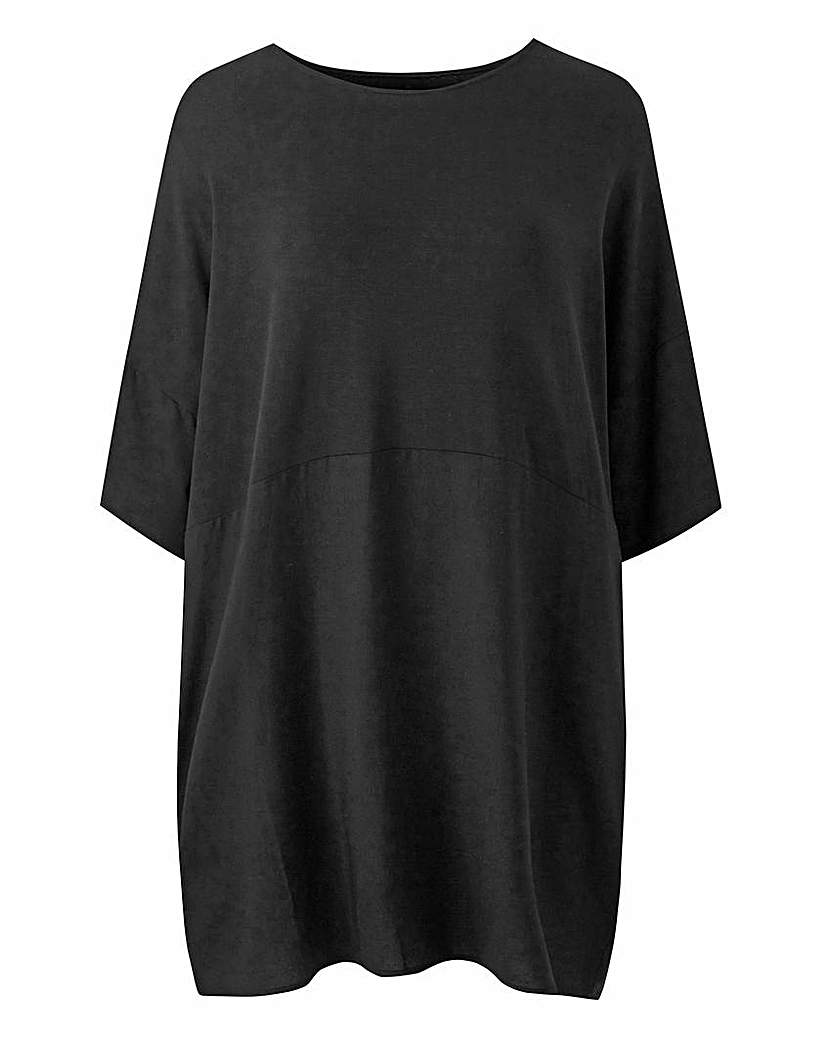 JD Williams Black Longer Length Colourblock Tunic