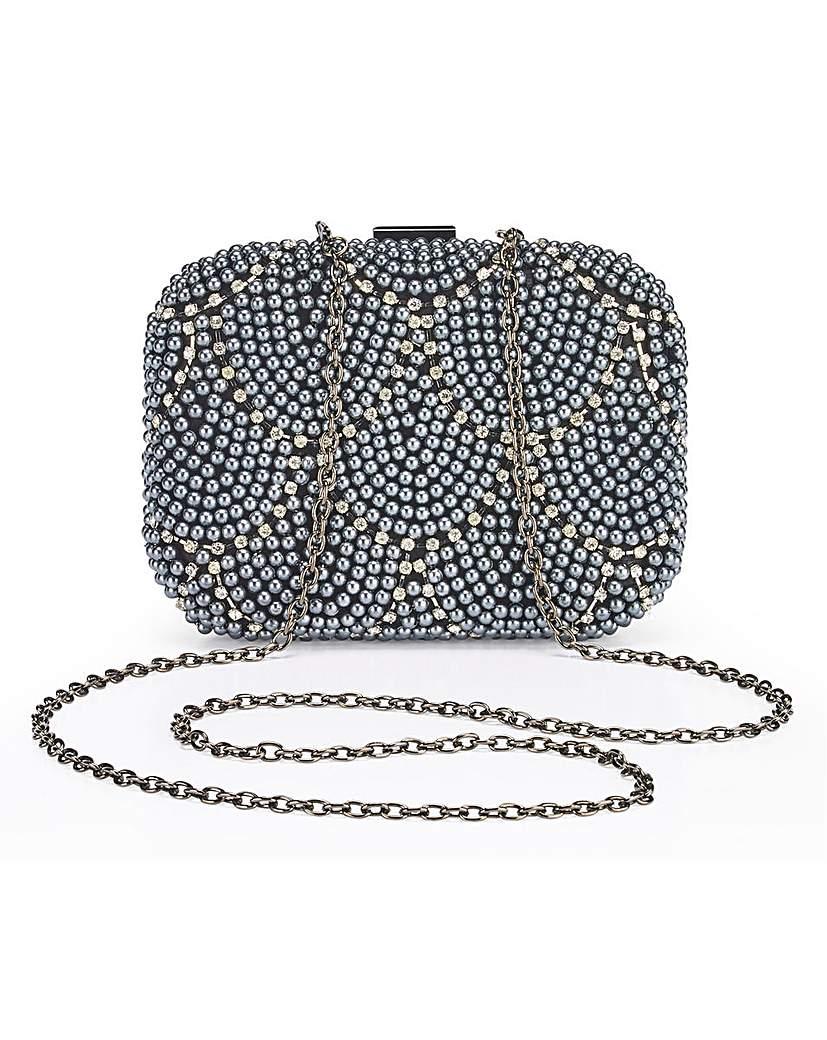 25313967503 Joanna Hope Pearl Clutch Bag