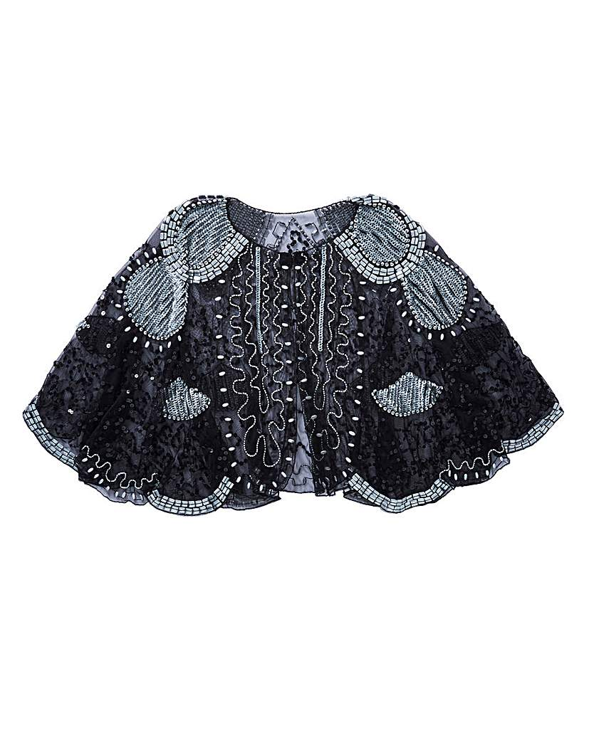 1920s Style Wraps Sequin Beaded Cape £35.00 AT vintagedancer.com