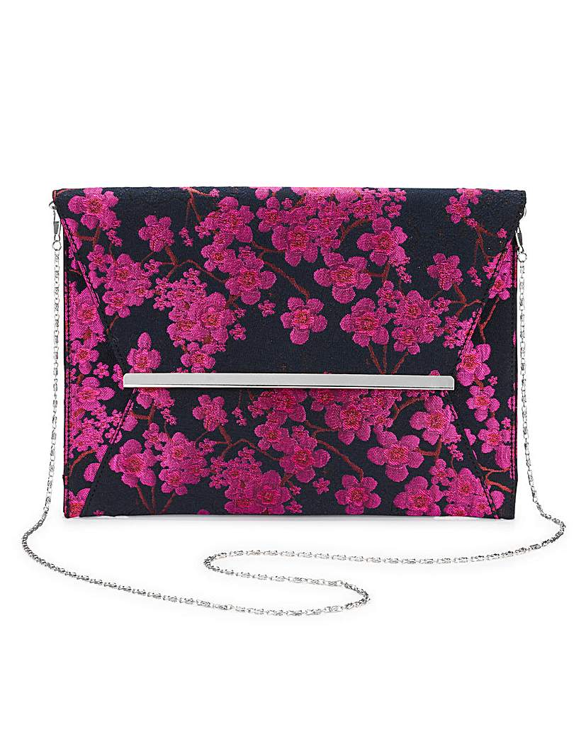 25551339611 Amelia Oversized Jacquard Clutch Bag