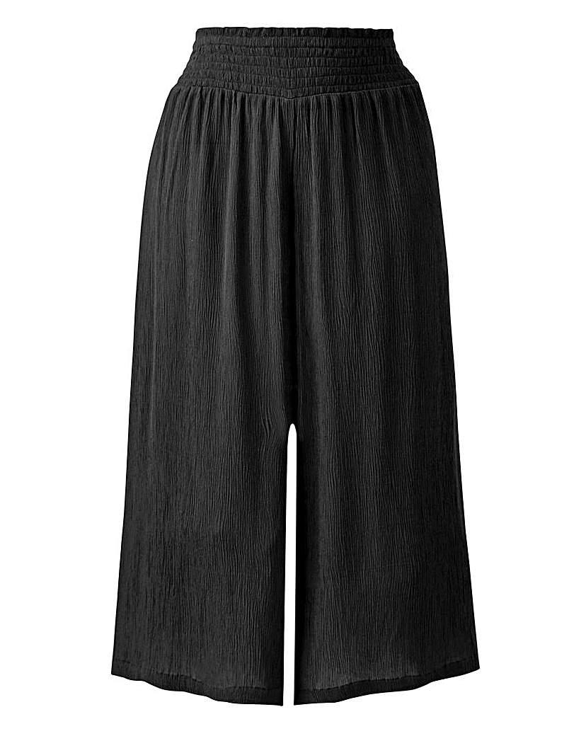 Crinkle Shirred Waist Culottes