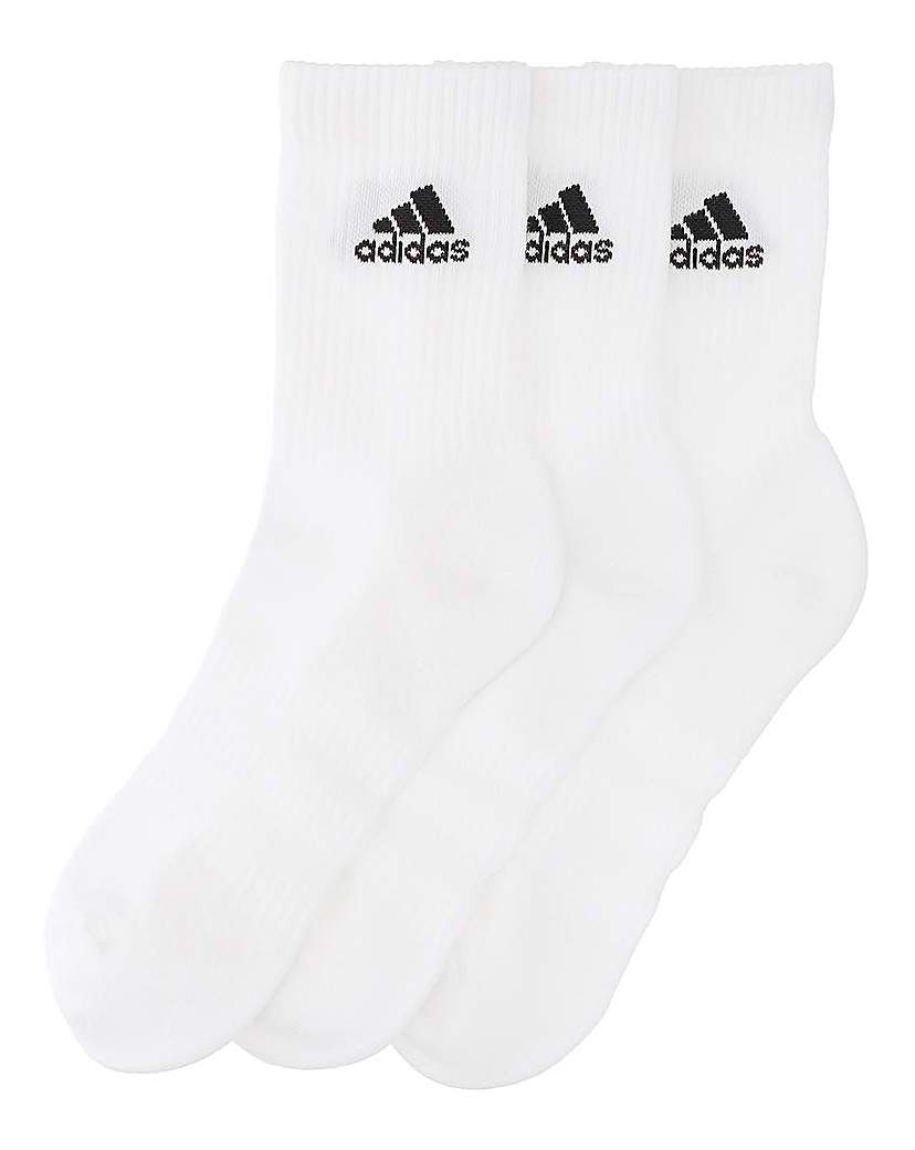 Image of adidas 3 Pk Crew Socks