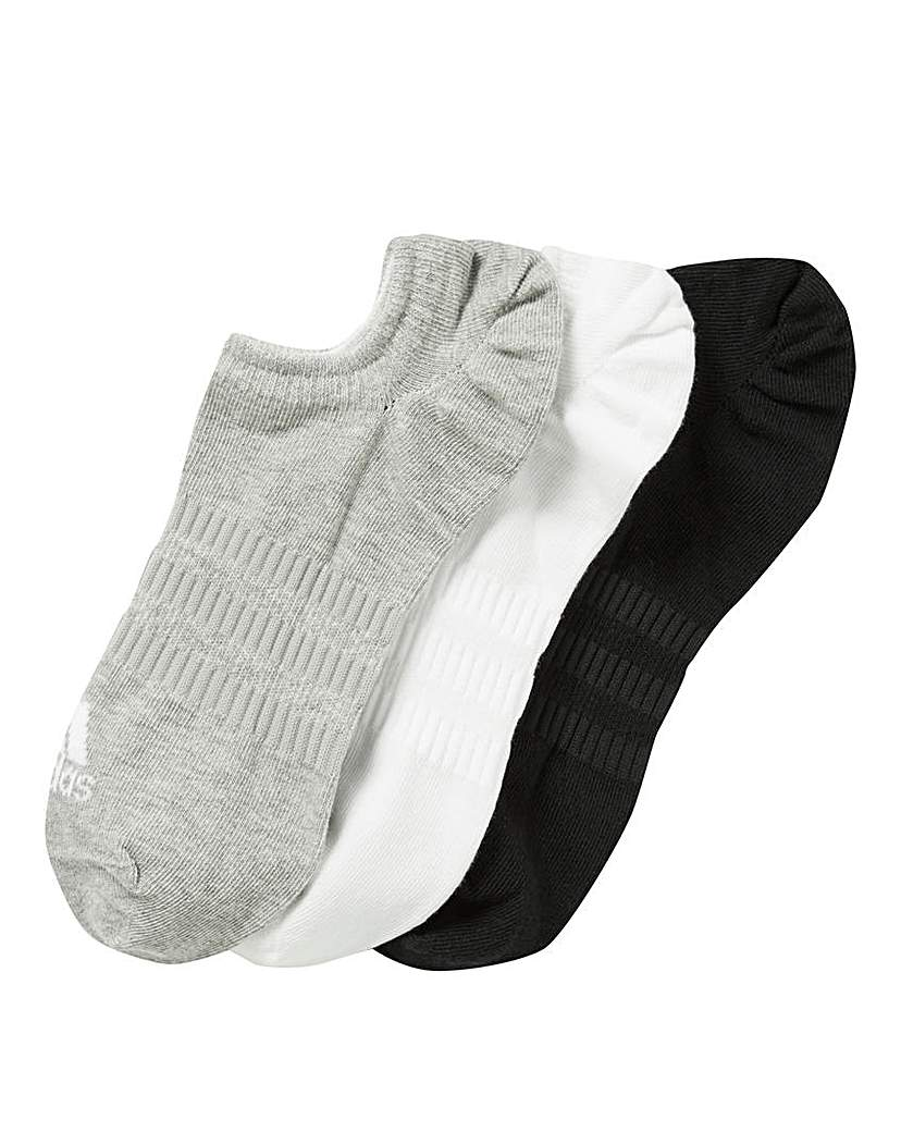 Image of adidas 3 Pk No Show Socks