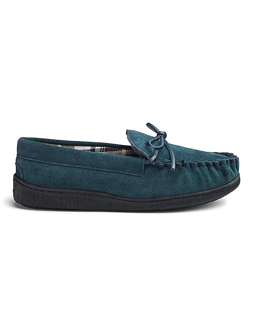 Cushion Walk Suede Mocassin Slippers