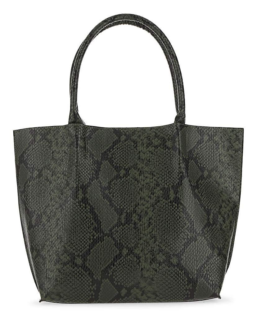 25683427929 Glamorous Green Snake Tote Bag