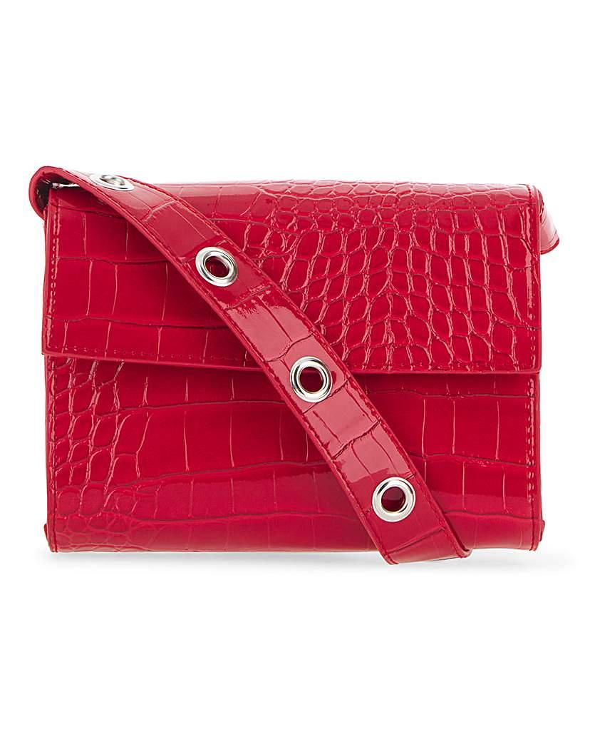 25675057281 Glamorous Red Patent Snake Bag