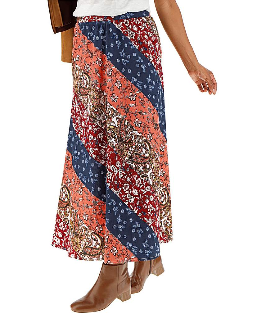 Vintage Inspired Dresses & Clothing UK Floral Print Crepe Maxi Skirt £20.00 AT vintagedancer.com