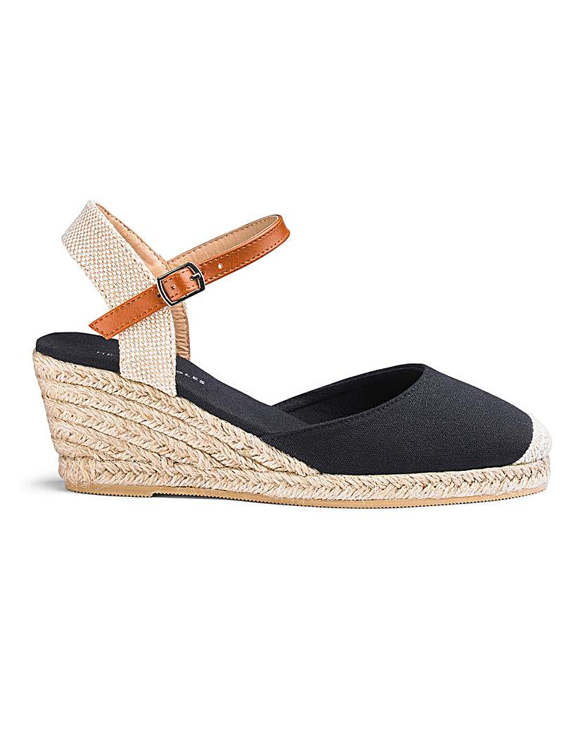 Espadrille Wedge Sandals EEE Fit