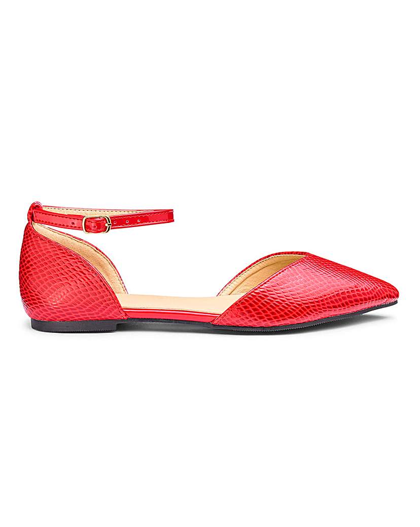 JD Williams Ankle Strap Pointed Toe Shoes EEE Fit